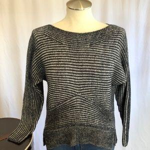 ALL SAINTS Mesa Merino Black White Stripe Sweater